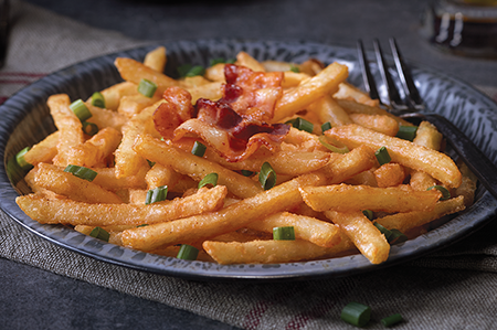 Bacon-Glazed Beer Battered Fries
