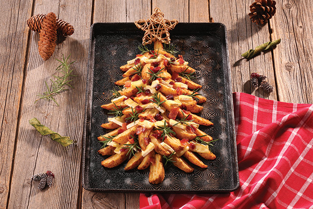 Cranberry-Brie Holiday Tree Fries